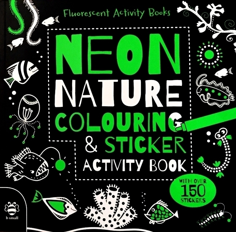 Neon Nature Colouring Sticker A - vickydoodles-4070 | ello