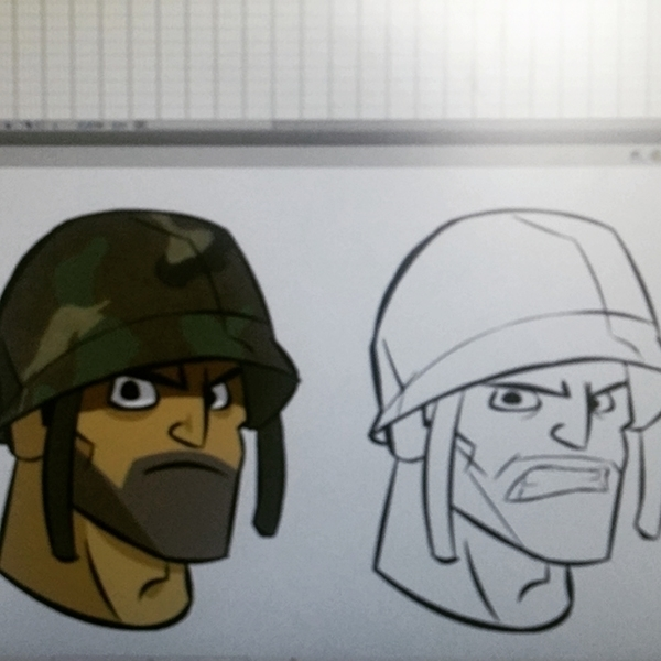 Angry Soldier - illustration, characterdesign - ajitvaidya   ello
