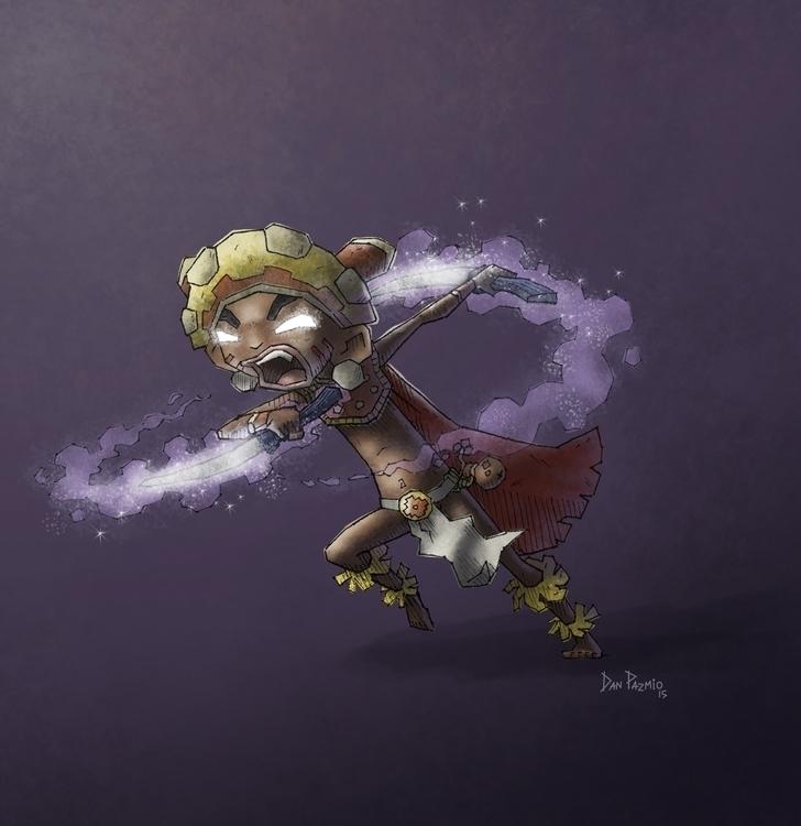 concept young Shaman Warrior ba - danpazmio | ello