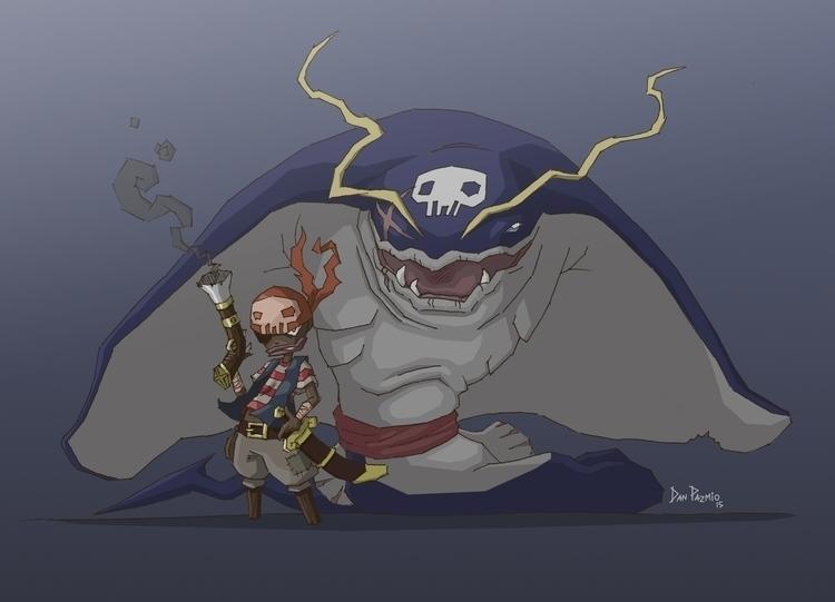 Beware naughty pirates, Skullra - danpazmio | ello