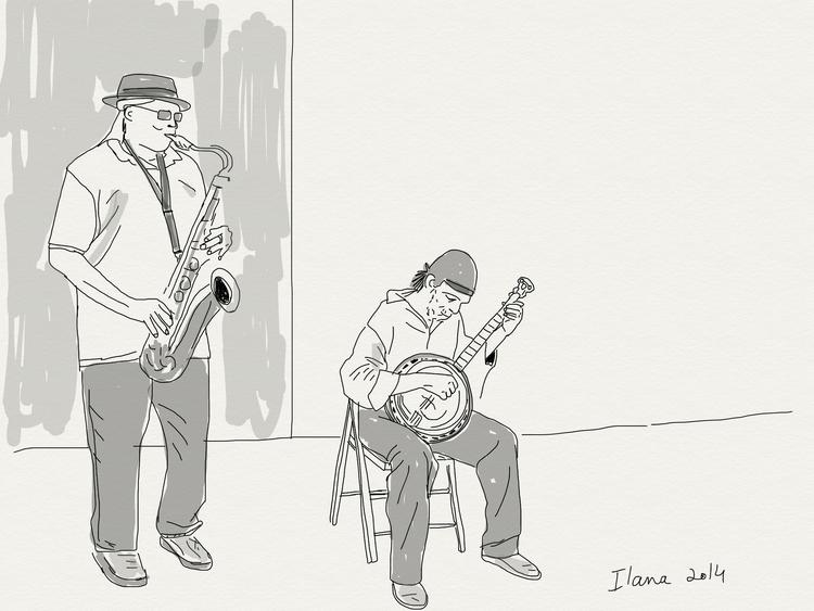 Street musicians - music, street - ilanagraf | ello