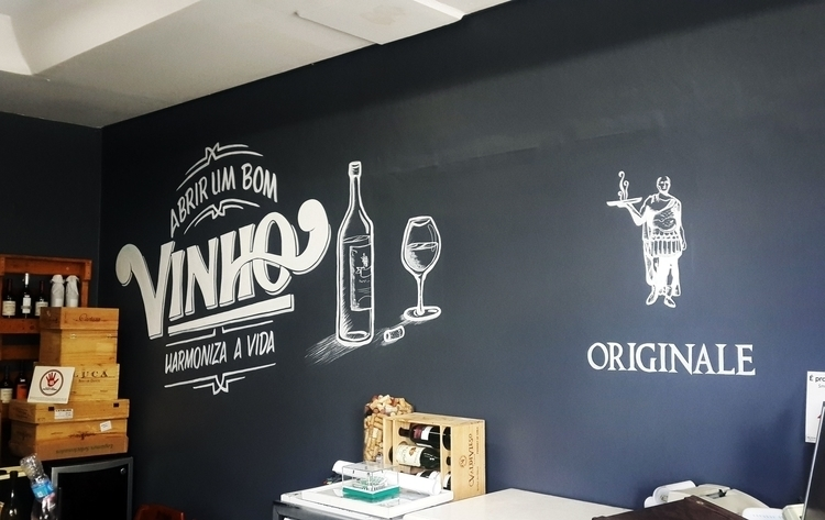 Pizza place mural - 2, pizza, signpainting - gibara | ello