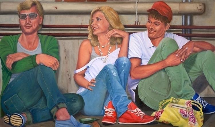 Oil canvas 125 90 cm - painting - marjon-4891   ello
