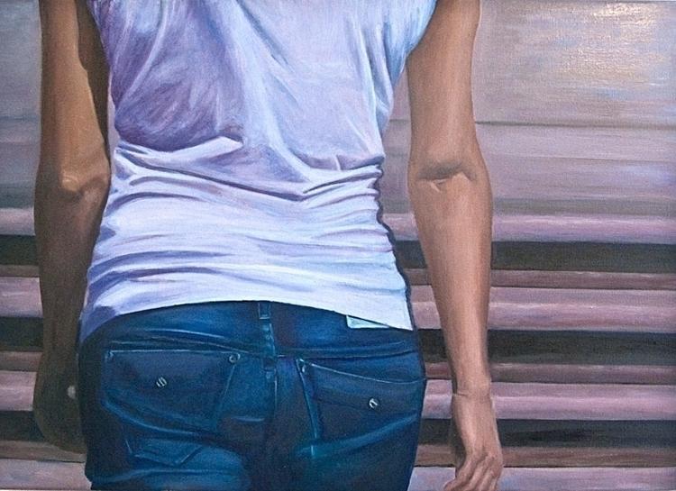 Oil canvas 50 70 cm - painting, painting - marjon-4891 | ello
