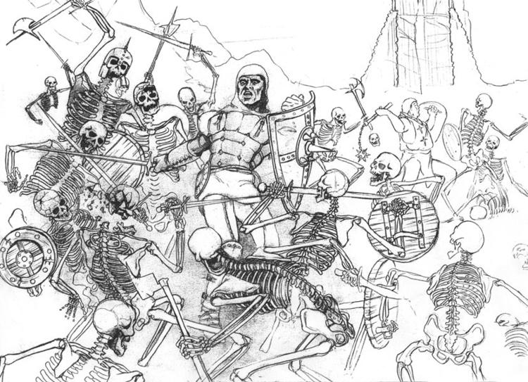 Harryhausen-esque - pencil, drawing - jgdc | ello