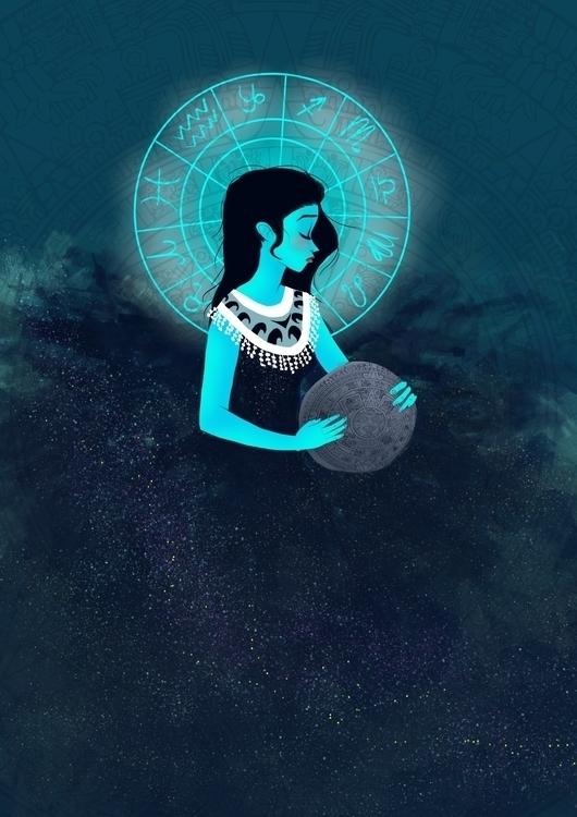 Aztec Goddess - illustration, characterdesign - hedif | ello