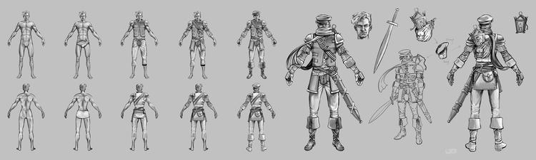 Male - Molotov - conceptart, gameart - jgdc | ello