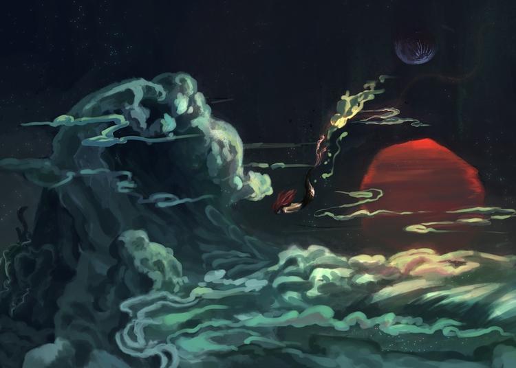 Ocean Dreams - clouds, sunrise, sunset - akrishna-9476 | ello