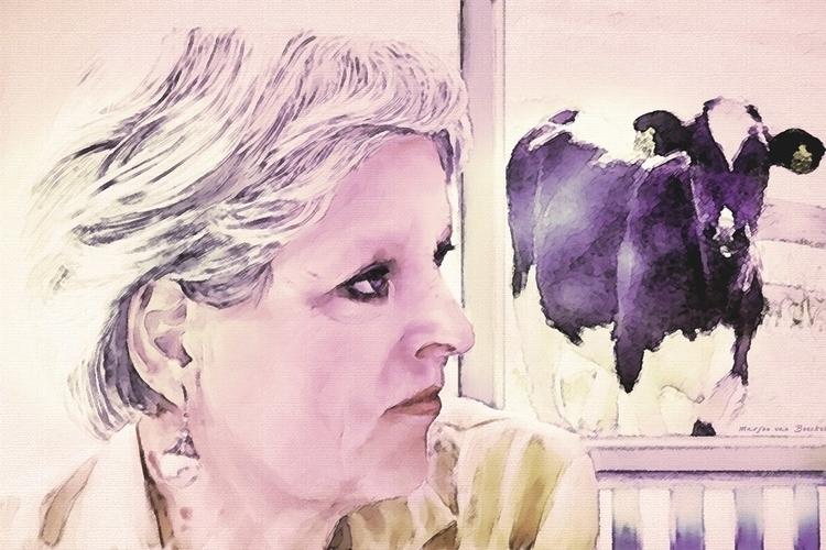 Olga - painting, drawing - marjon-4891 | ello