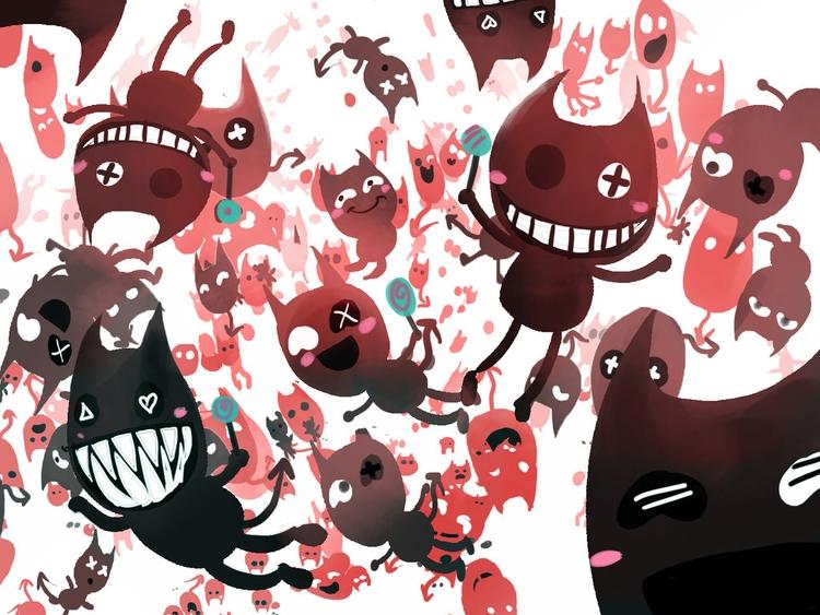 Sugar Rush - devil, creature, hyper - akrishna-9476 | ello