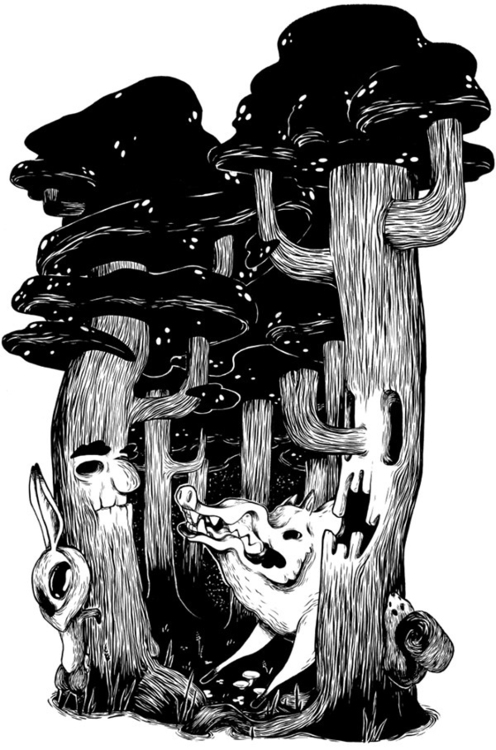 Beware wolf - tree, illustration - mjarvis-5786 | ello