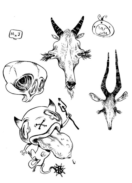 Page Doodles 2 - sketch, brushpen - mjarvis-5786 | ello