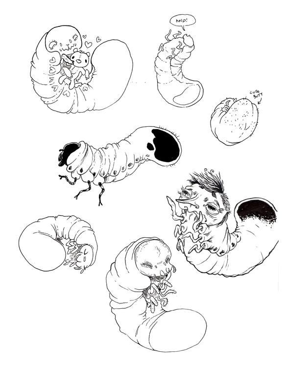 Page Doodles 3 - larve, babybugs - mjarvis-5786 | ello
