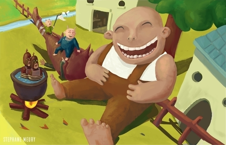 picnic - illustration, monster, ogre - stephanemeury | ello