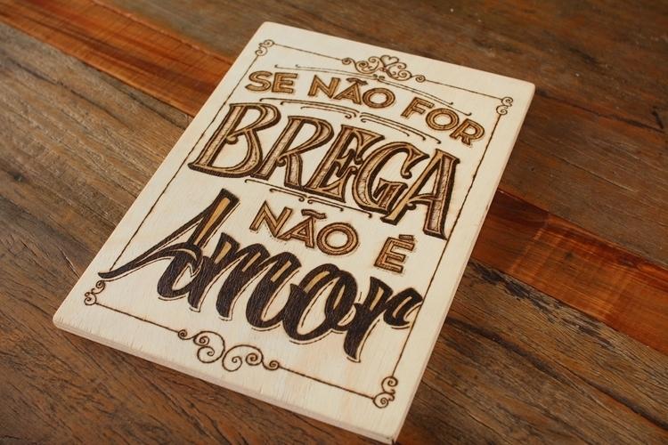 Pyrography lettering sign cake  - gibara | ello