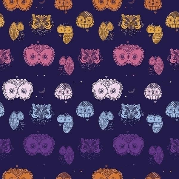 Noturnas - owl, cute, pattern - cibelle-7505 | ello
