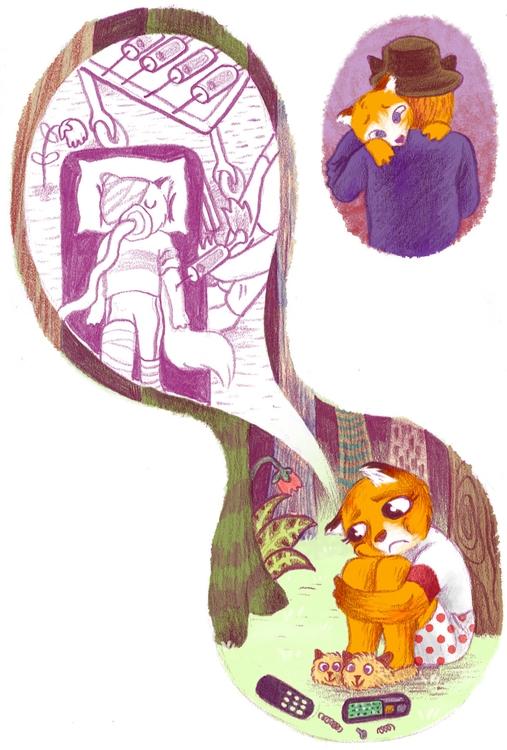 brother, big sister - fox, children'sillustration - efiolin | ello