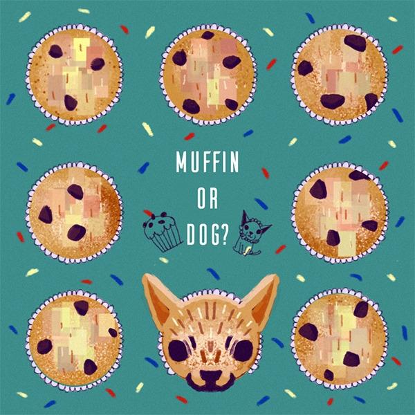 Muffin Dog - illustration, painting - soso-6104   ello