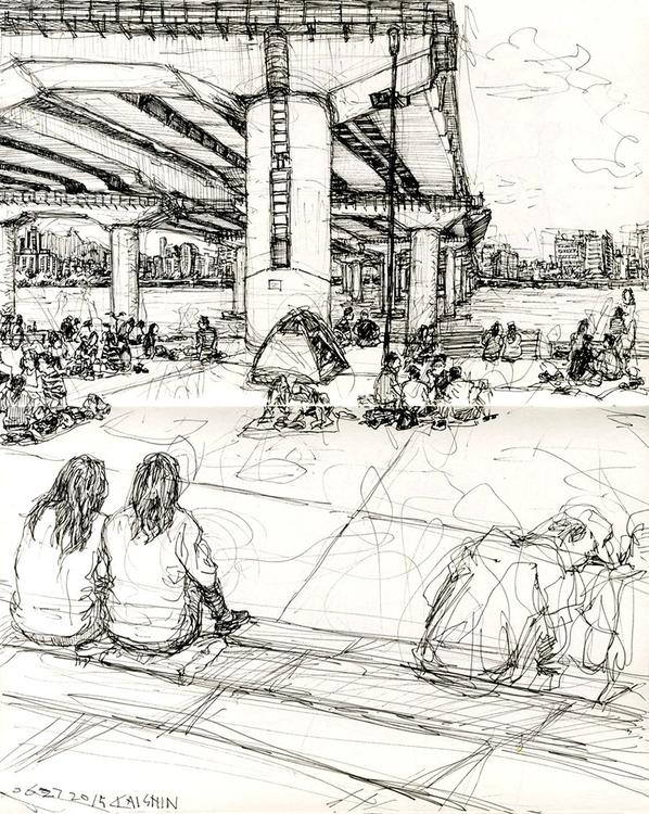 sketchbook, sketch, illustration - kshin   ello
