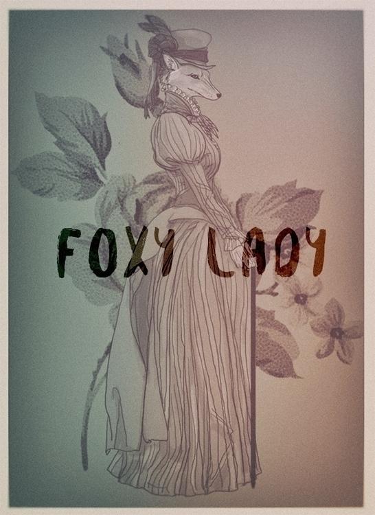 Foxy lady - illustration, painting - soso-6104 | ello