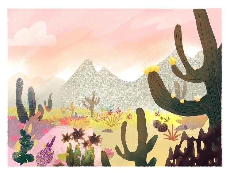 Desert - desert, cactus, cacti, dry - mirako-8379 | ello