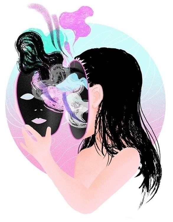 Disengage - girl, mask, confusion - stephaniekubo-8873 | ello