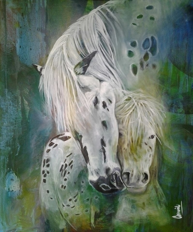 painting, horses, colors, emotions - conniemullerarte | ello