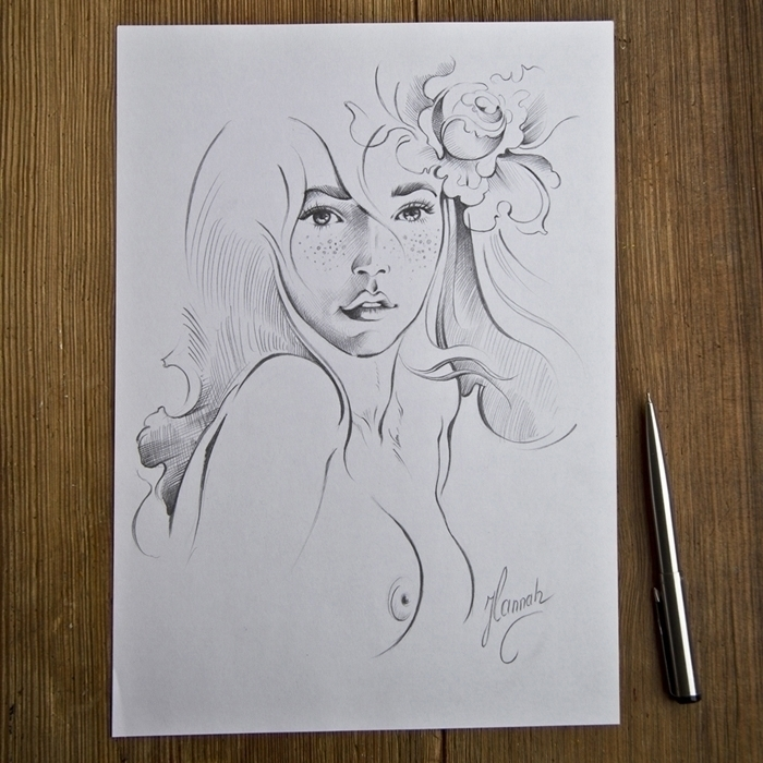 Rose Flower - Original pencil d - annahannahart | ello
