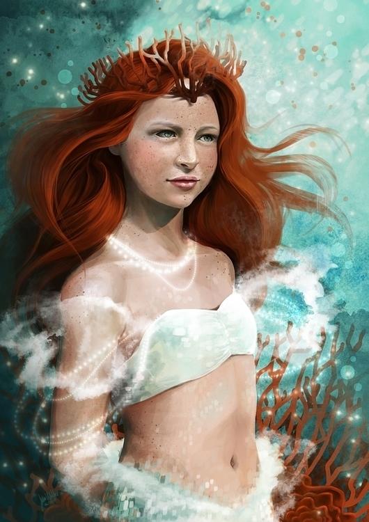 sister mermaid. fanart fantasy  - yukiria | ello