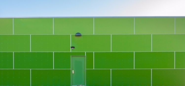 Green Wall Sky shadows) wall pr - chrishuddleston | ello