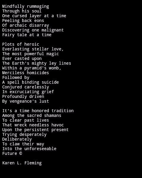 today - Poetry, poem, writing, shaman - poeticosmosis | ello