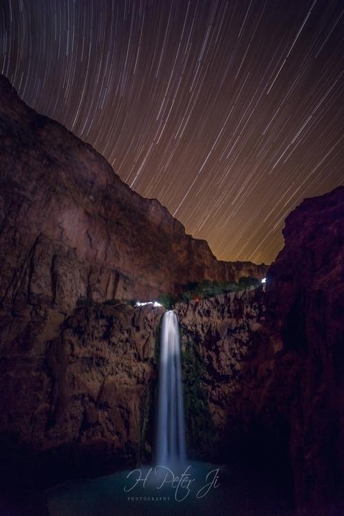 Stars dancing magnificent falls - scorpioonsup | ello