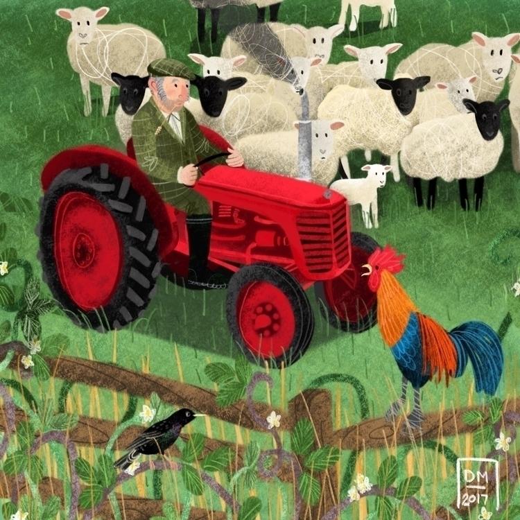 Sheep - illustration - doodlesmarc | ello