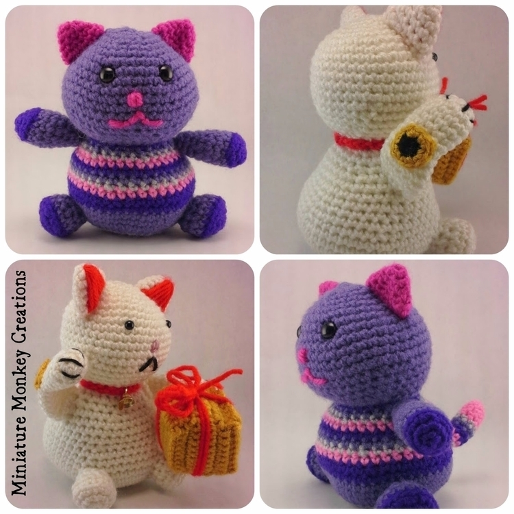 Happy Check Monkeys Friends sec - miniaturemonkeycreations   ello