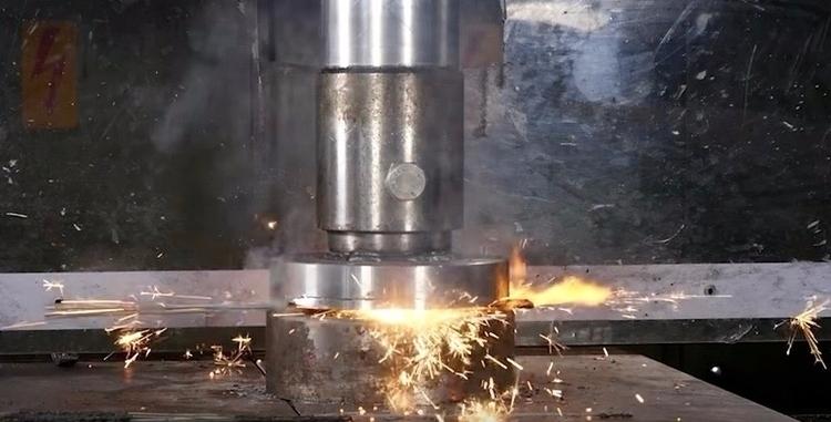 Watch hydraulic press smash spa - bonniegrrl | ello