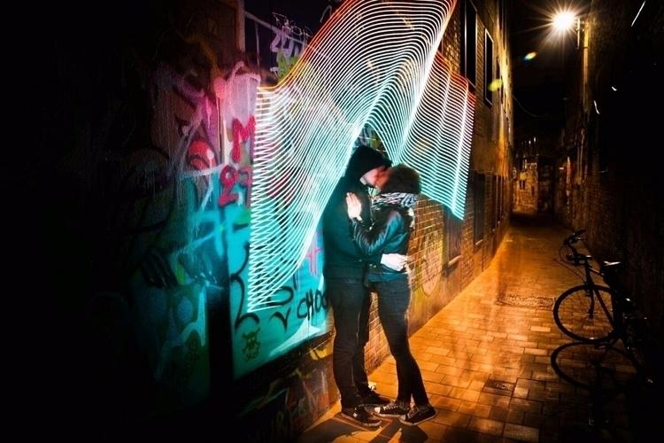 lotta love streets Ghent night - graffitilights | ello