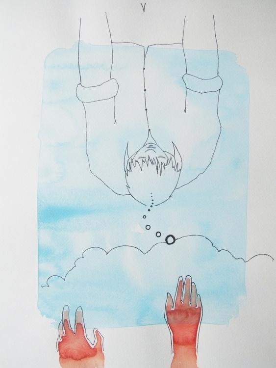 Les mains qui rêvent Watercolou - euric | ello