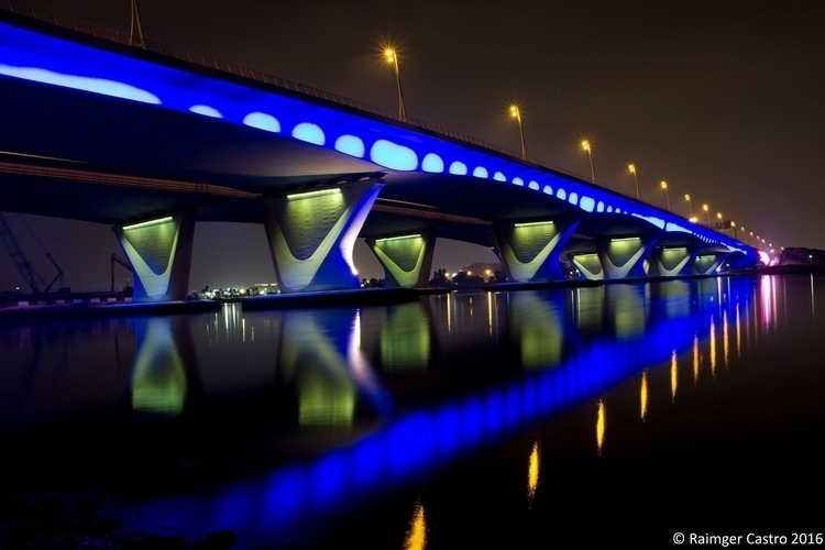 Al Garhoud Bridge Dubai UAE - Landscape - eideticcraft | ello
