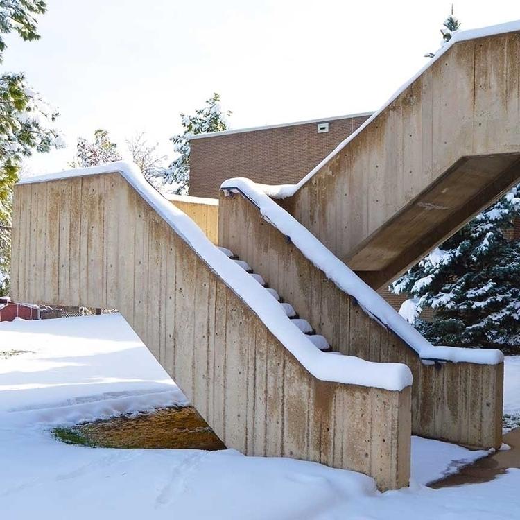 love brutalist staircases! Heri - coloradocatalyst | ello