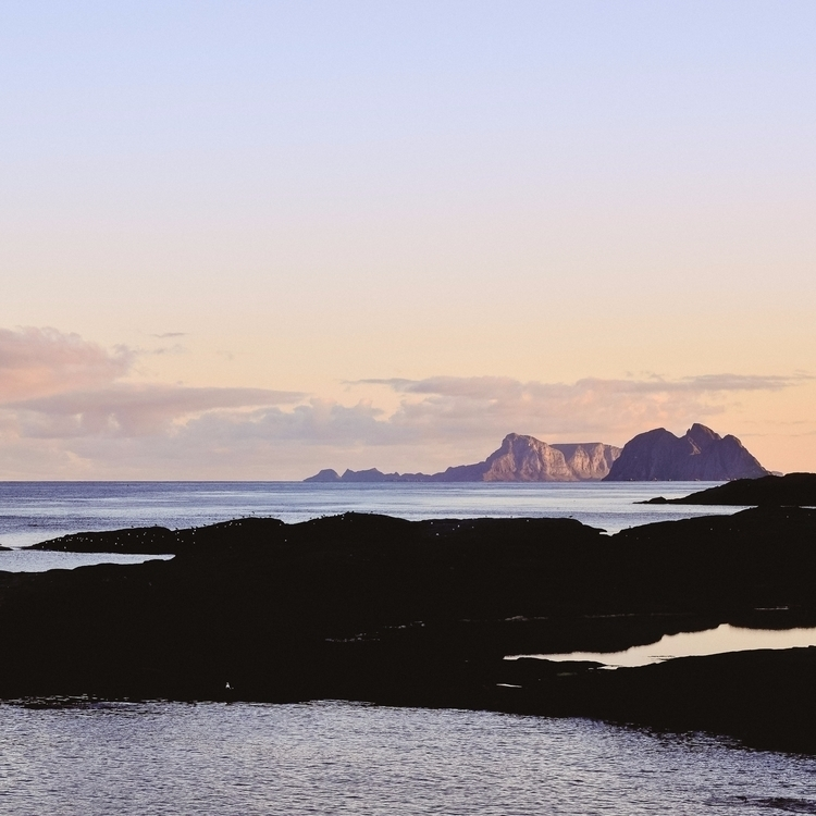 Sunsets Ocean land. trip Lofote - lavisuals   ello