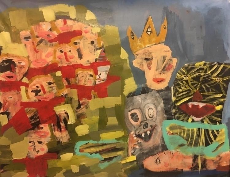Money trap 30 50 acrylic canvas - melissamonroeart | ello