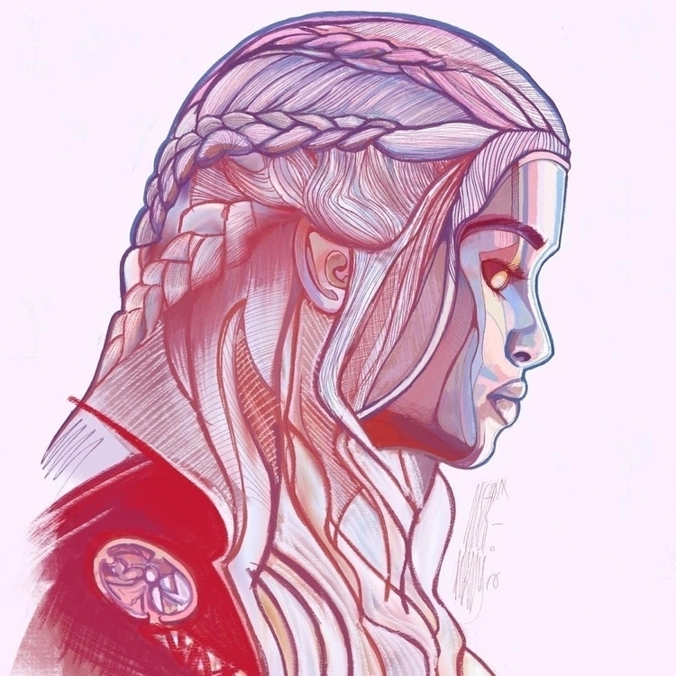 begins - Daenerys Targaryen - gameofthrones - darqdesign   ello