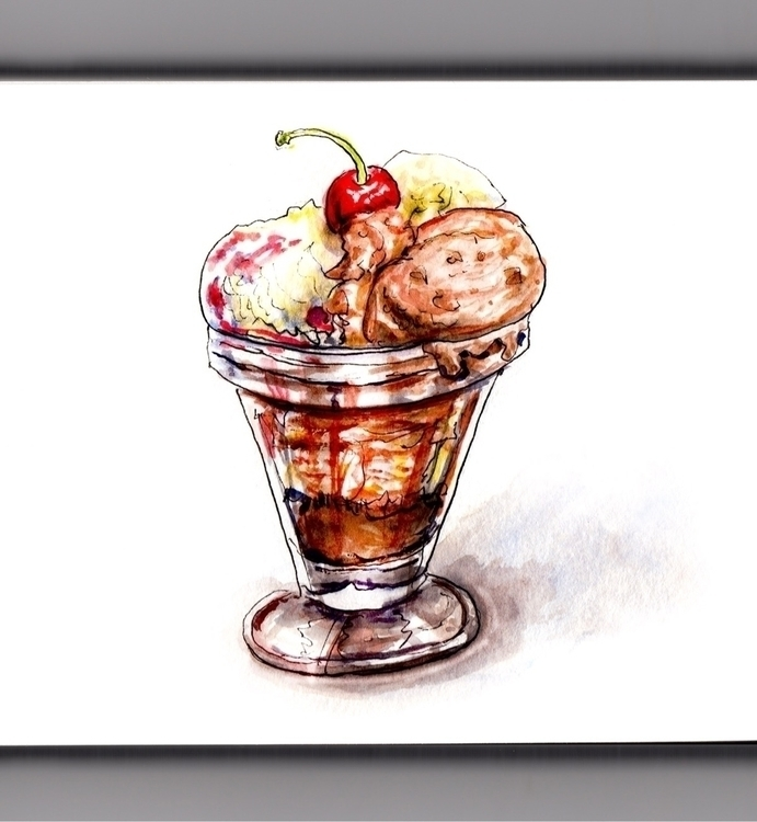 Ice Cream Season - watercolor, watercolour - doodlewash | ello