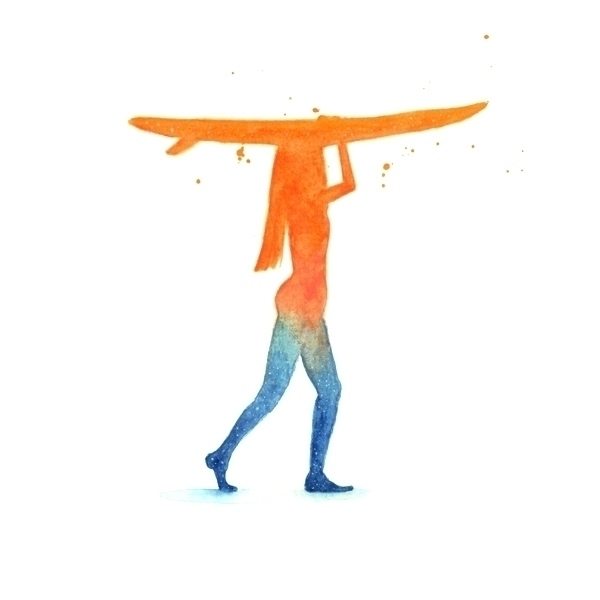 Surfing' - Watercolour Study - watercolours - j0eyg1rl | ello