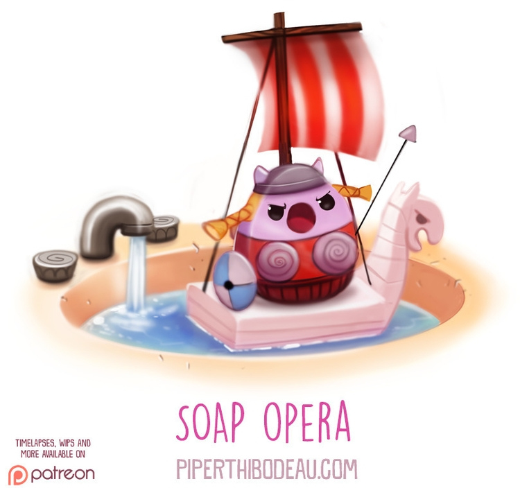 Daily Paint 1612. Soap Opera - piperthibodeau | ello