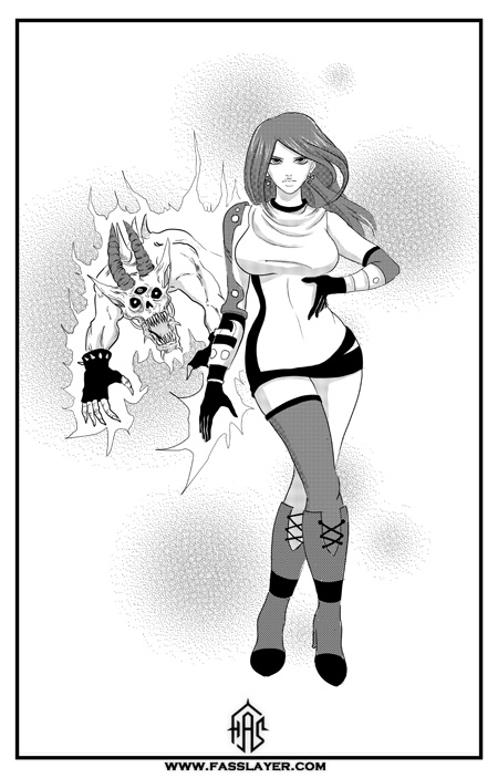 digital drawing - illustration, characterdesign - fasslayer | ello