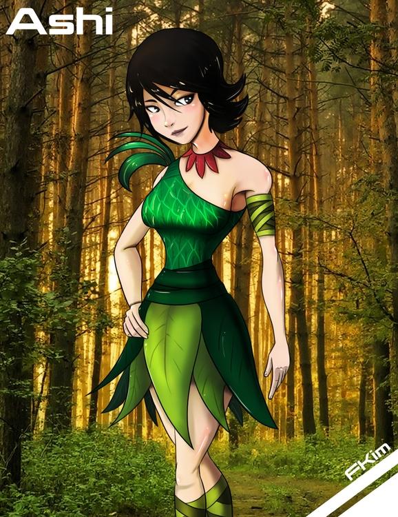 Ashi - illustration, painting, characterdesign - fkim90 | ello
