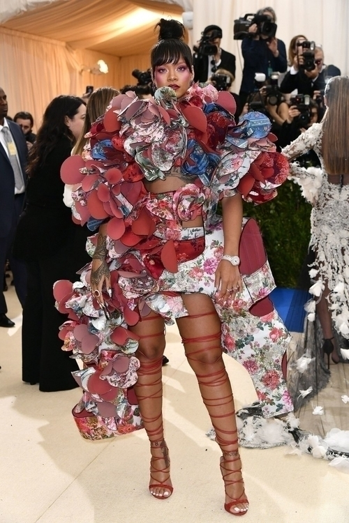 [Rihanna Met Gala night wearing - maggie | ello