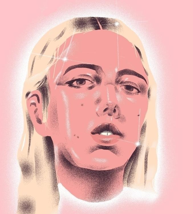 Pink - illustration, illustrator - richachane | ello