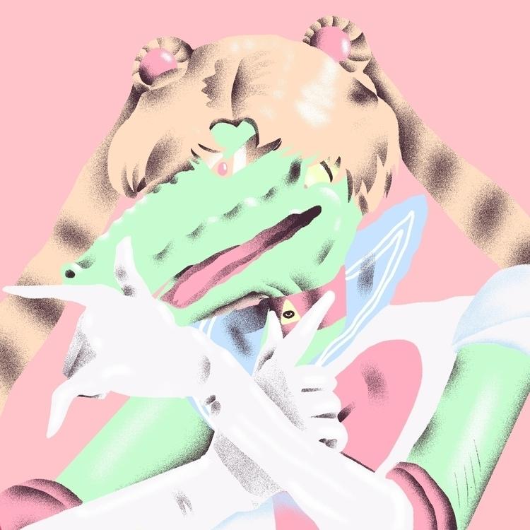 Gator Moon - illustration, sailormoon - richachane | ello